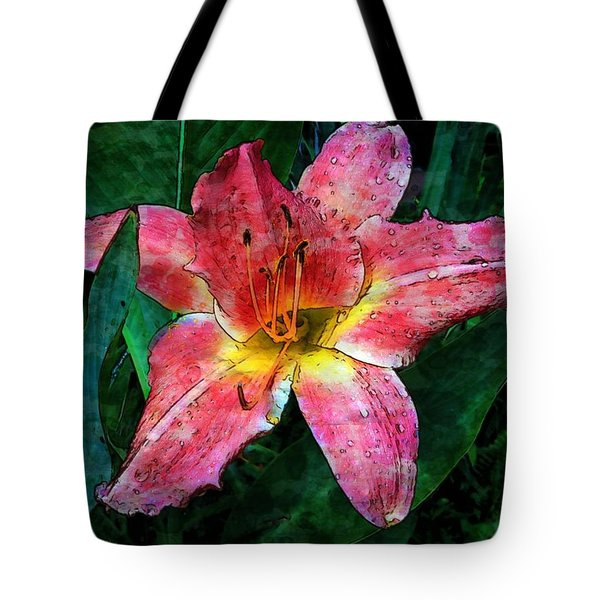 Lilly Of The Rain Tote Bag