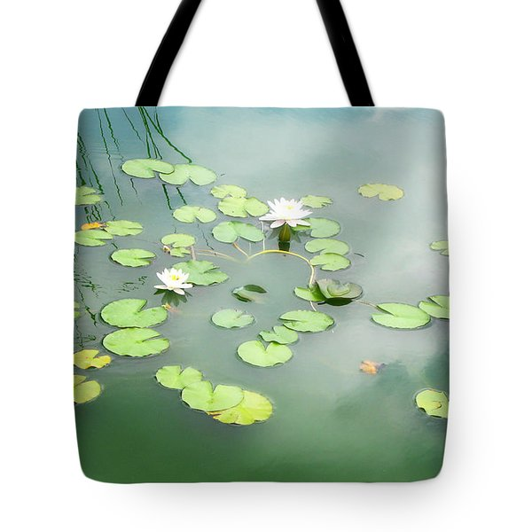 Tote Bag featuring the photograph Lilly Pads by Erika Weber