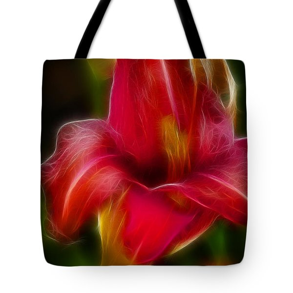 Lily 6081-fractal Tote Bag by Gary Gingrich Galleries