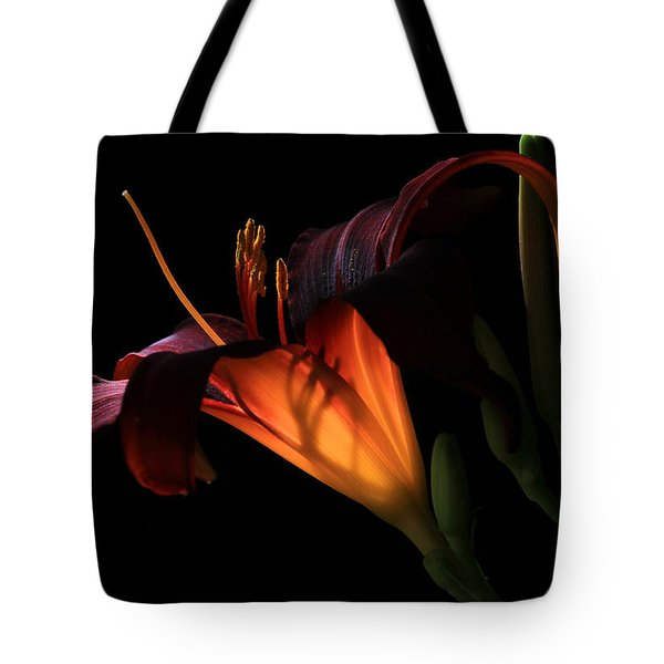 Tote Bag featuring the photograph Lily Ambiance by Donna Kennedy