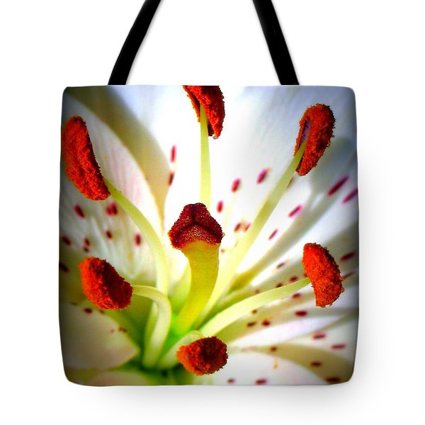 Lily Center Tote Bag by Patti Whitten