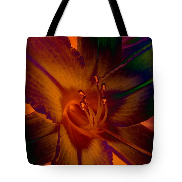Tote Bag featuring the photograph Lily Colors by WB Johnston