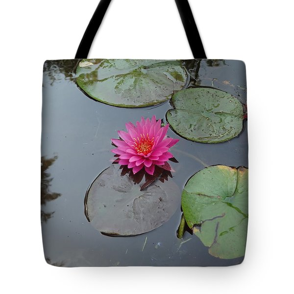 Lily Flower Tote Bag by Michael Porchik