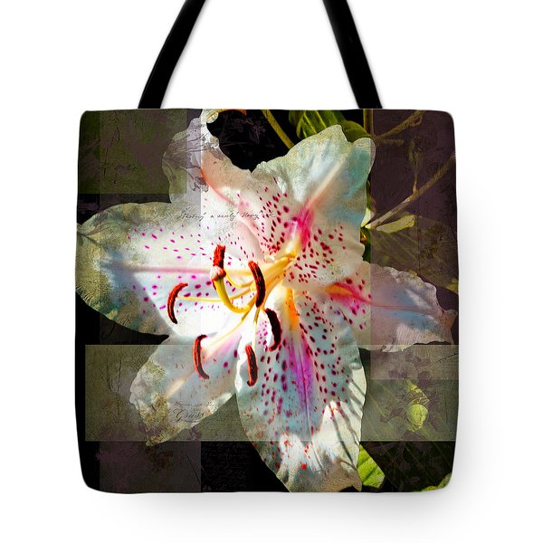 Lily From Whitefish Point Michigan Tote Bag