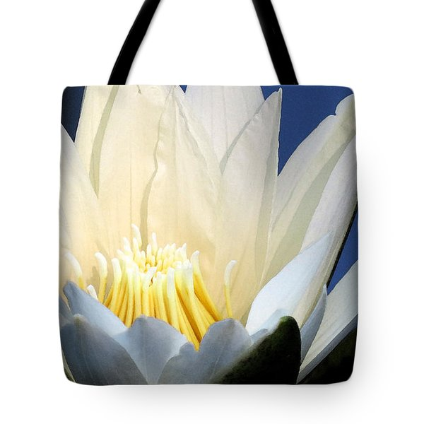 Lily In Blue Tote Bag
