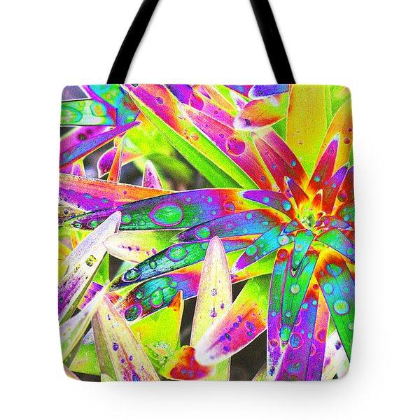 Lily Leaves Raindrops Tote Bag by Carol Lynch