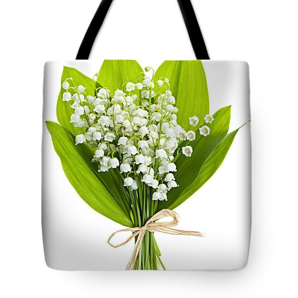 Lily-of-the-valley Bouquet Tote Bag by Elena Elisseeva