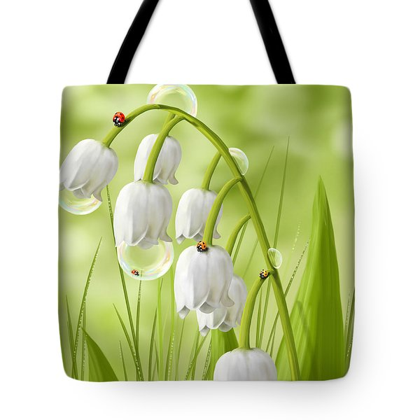 Lily Of The Valley Tote Bag by Veronica Minozzi