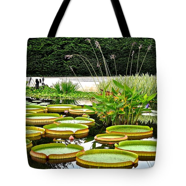 Lily Pad Garden Tote Bag by Frozen in Time Fine Art Photography