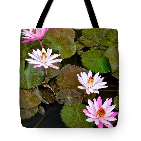 Lily Pad Haven Tote Bag by Frozen in Time Fine Art Photography