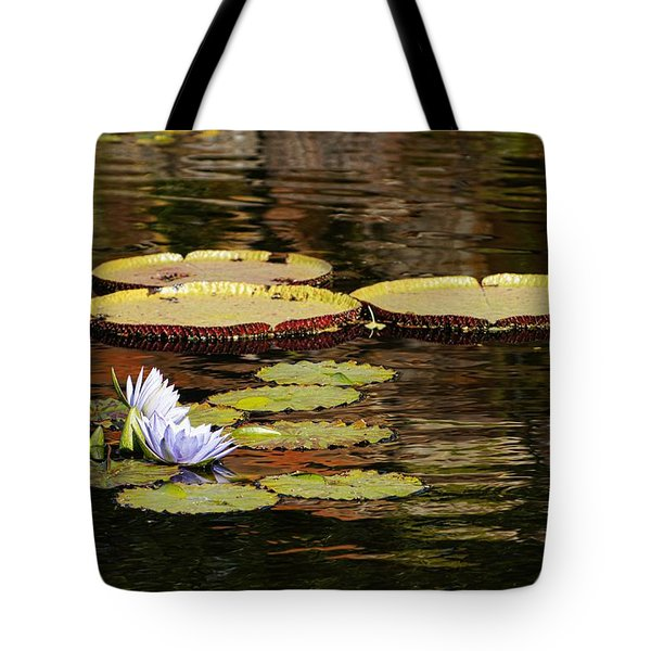 Lily Pad Tote Bag by Kathy Churchman