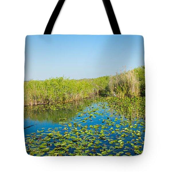 Lily Pads In The Lake, Anhinga Trail Tote Bag