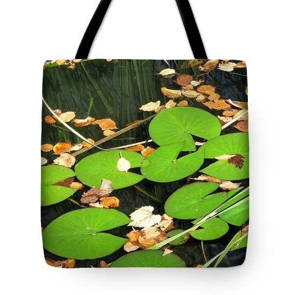 Tote Bag featuring the photograph Lily Pads by Mary Bedy