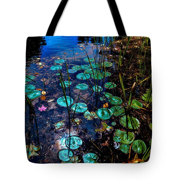 Lily Pads On Beaver Brook Tote Bag