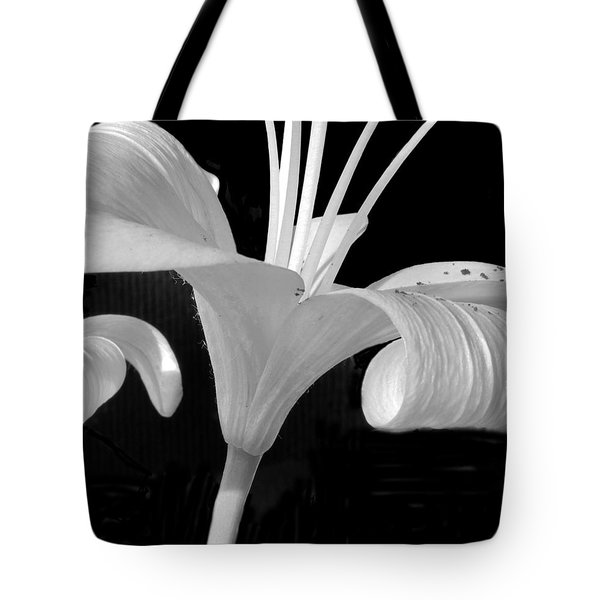 Lily Parts Black And White 2 Tote Bag