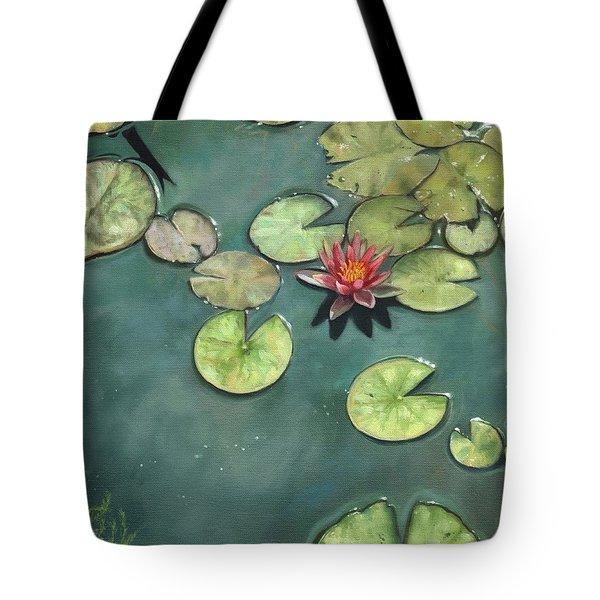 Lily Pond Tote Bag by David Stribbling