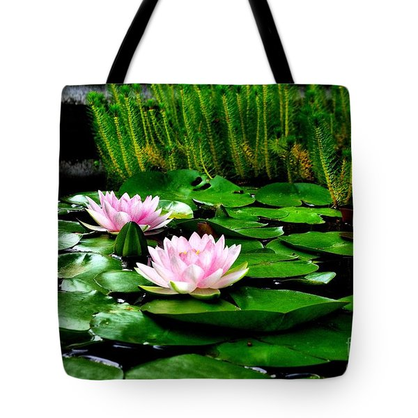 Tote Bag featuring the photograph Lily Pond by John S