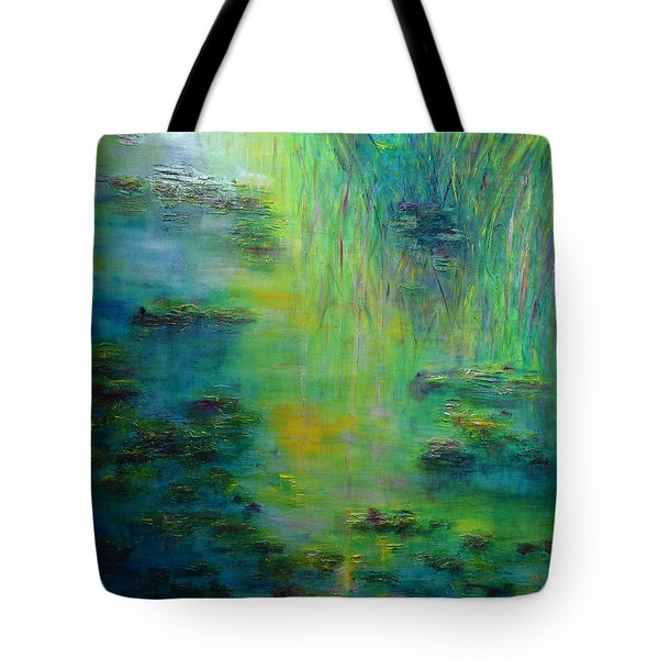 Lily Pond Tribute To Monet Tote Bag