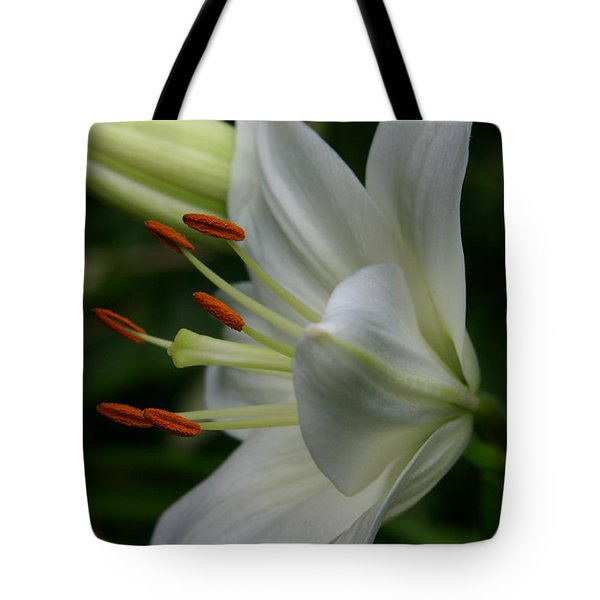 Tote Bag featuring the photograph Lily Pure by Denyse Duhaime
