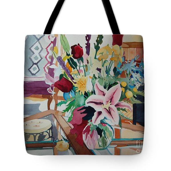 Lily Still Life Tote Bag