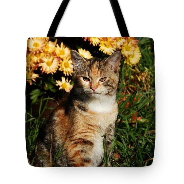 Lily With Harvest Mums Tote Bag
