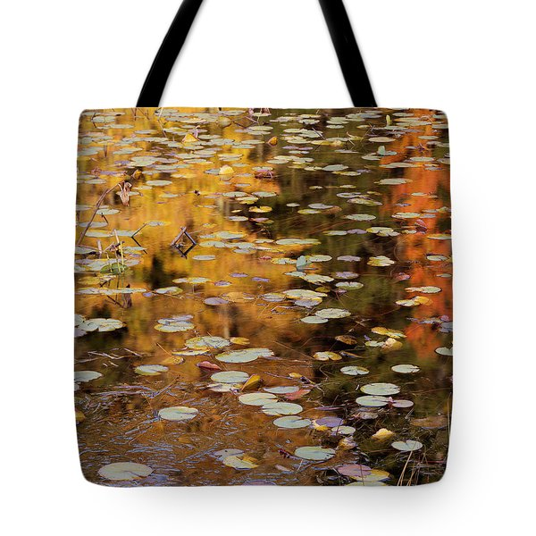 Lilypads And Reflection-h Tote Bag