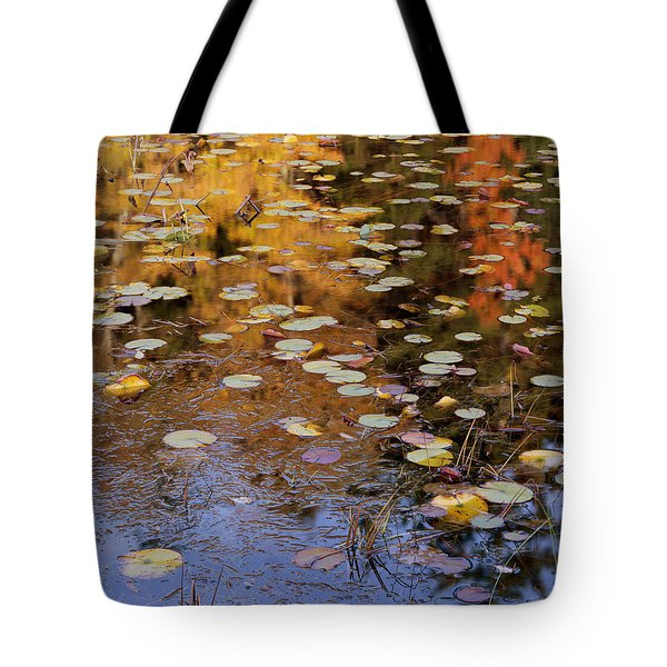 Lilypads And Reflection Tote Bag