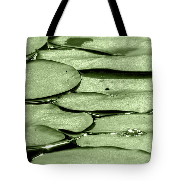 Lilypads Tote Bag by Roselynne Broussard