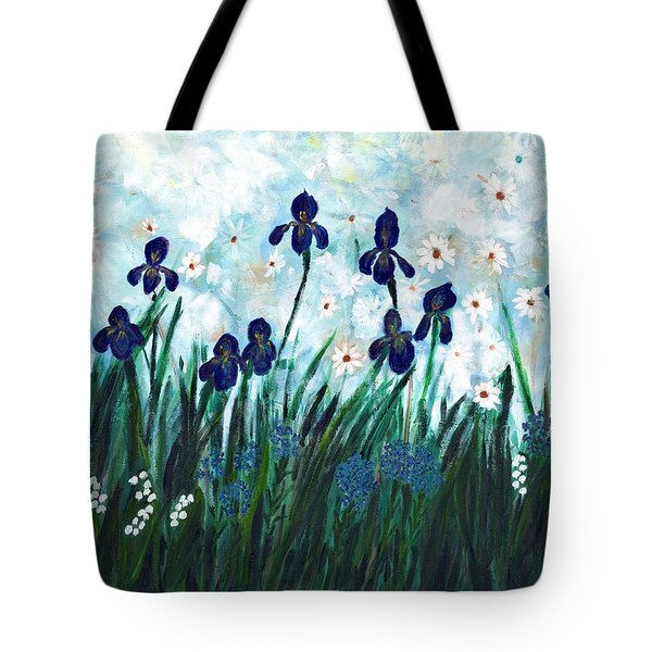 Lily's Garden Tote Bag by David Dossett
