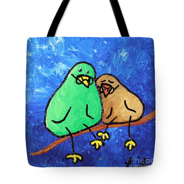Limb Birds - Lasting Love Tote Bag by Linda Eversole