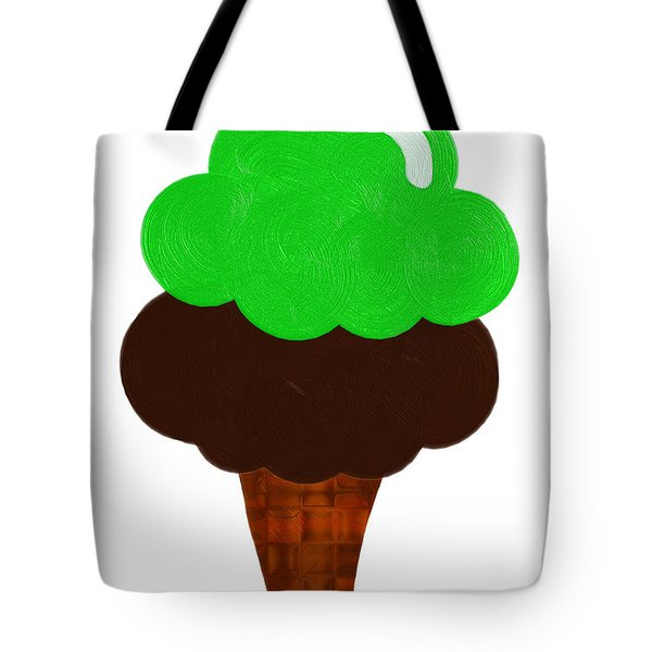 Lime And Chocolate Ice Cream Tote Bag