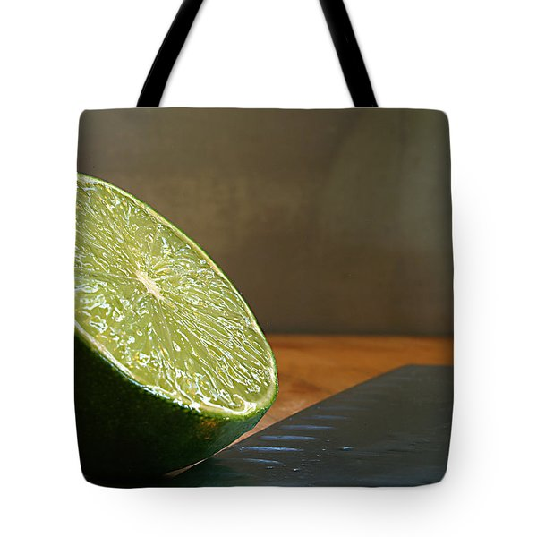 Tote Bag featuring the photograph Lime Blade by Joe Schofield