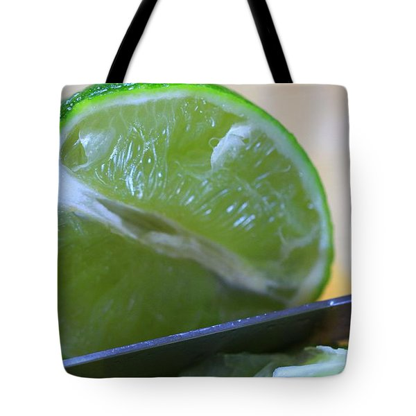 Lime Tote Bag by Dan Sproul