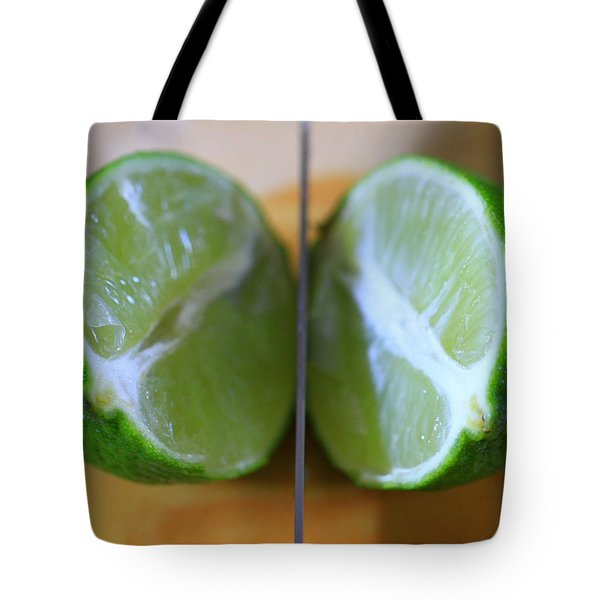 Lime Halves Tote Bag by Dan Sproul