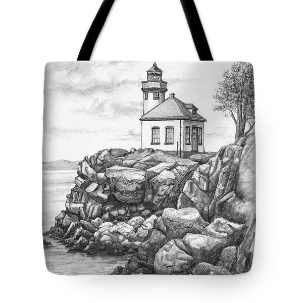 Lime Kiln Lighthouse Tote Bag