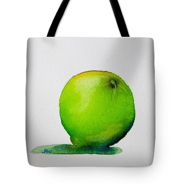 Lime Study Tote Bag by Jani Freimann