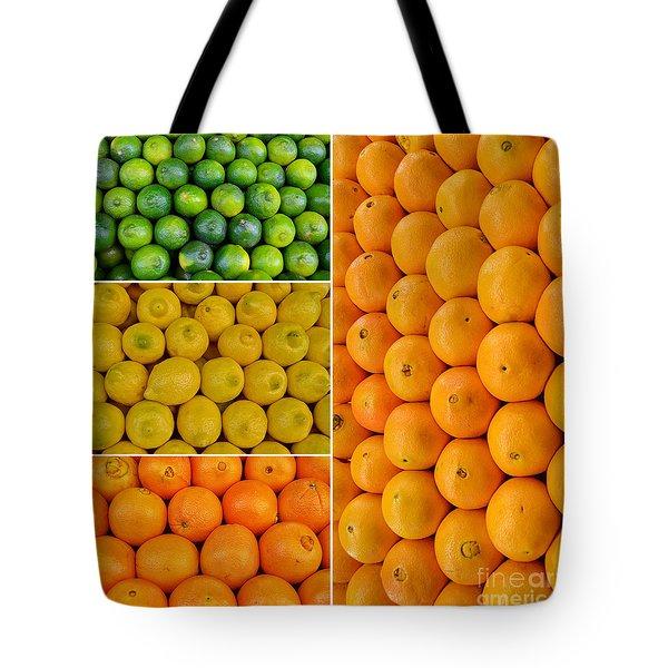Limes Lemons Oranges Tote Bag by Sabine Jacobs