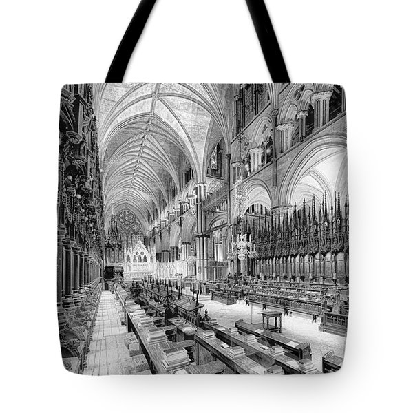 Lincoln Cathedral The Choir I Tote Bag by Jack Torcello