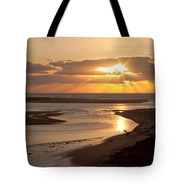 Lincoln City Sunset Tote Bag by John Daly