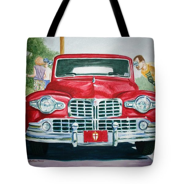Tote Bag featuring the painting Lincoln In Red by Stacy C Bottoms