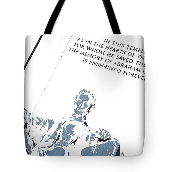 Lincoln In Shades Of Grey Tote Bag