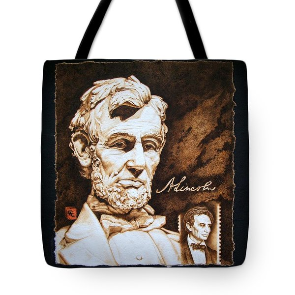 Lincoln Memorial And The Younger Tote Bag by Cynthia Adams
