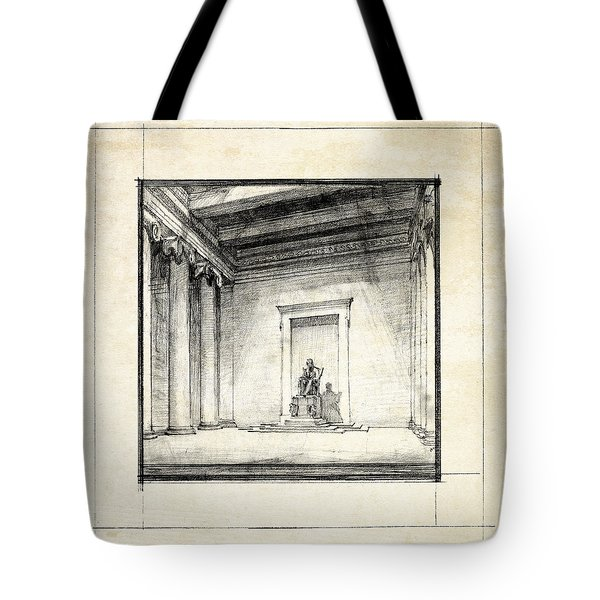 Lincoln Memorial Sketch IIi Tote Bag by Gary Bodnar