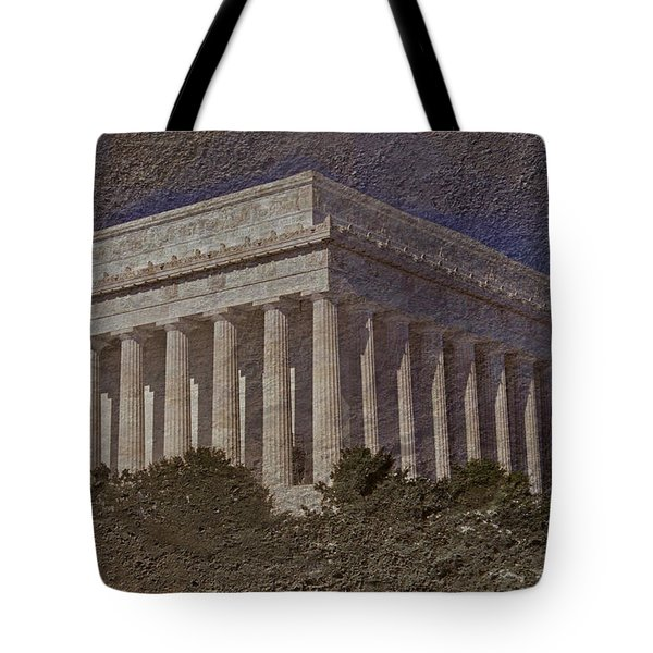 Lincoln Memorial Tote Bag by Skip Willits