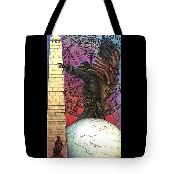 Lincoln Monuments Street Banners Civil War Flag Bearer Tote Bag by Jane Bucci