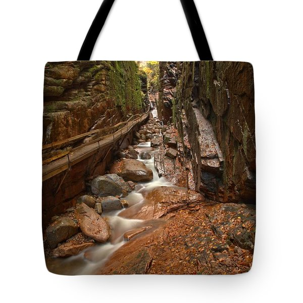 Lincoln New Hampshire Flume Gorge Tote Bag