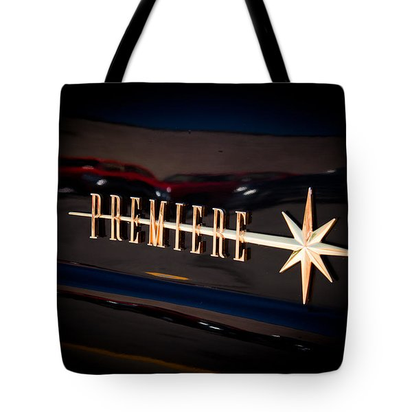 Tote Bag featuring the photograph Lincoln Premiere Emblem by Joann Copeland-Paul
