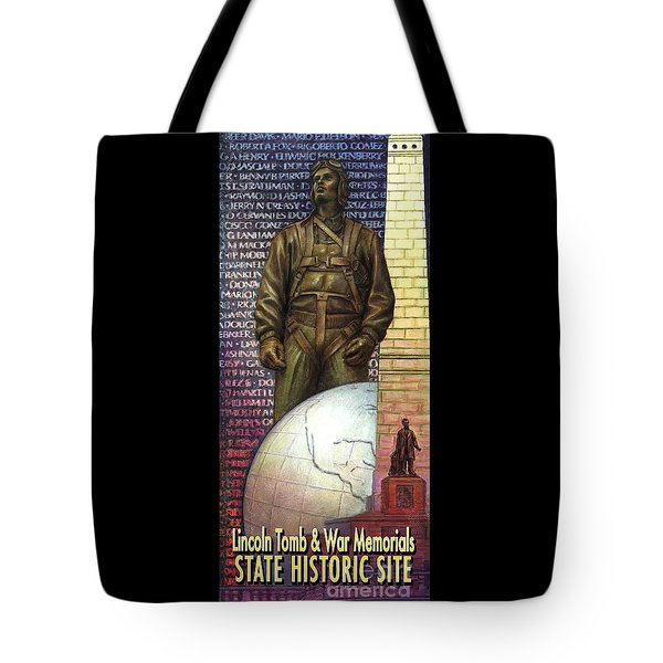 Lincoln Tomb And War Memorials Street Banners Korean War Pilot Tote Bag by Jane Bucci