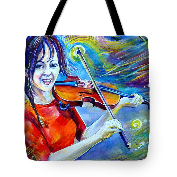 Lindsey Stirling Magic Tote Bag by Anna  Duyunova