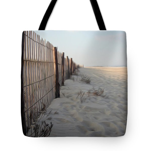 Tote Bag featuring the digital art Line In The Sand by Kelvin Booker